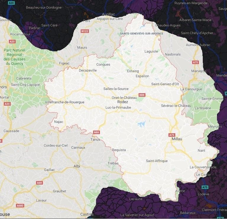 carte aveyron frelons jpeg min - Aveyron entreprise guêpes frelons la plus proche
