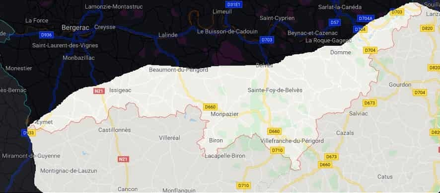 carte dordogne frelons jpeg min - Nids de guêpes et frelons Dordogne 24