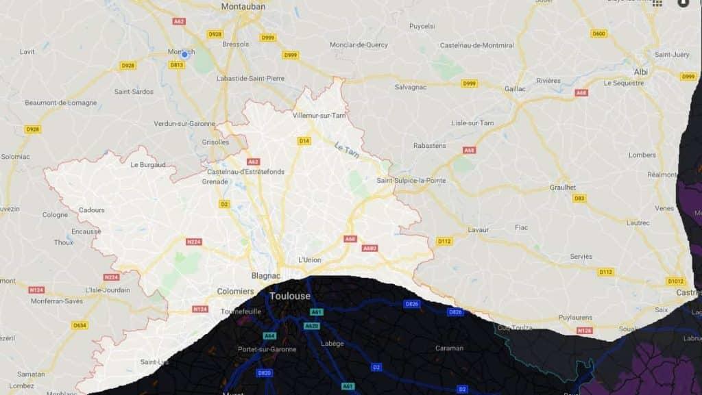 carte haute garonne frelons jpeg min 1024x577 - Haute Garonne frelons guêpes ALLO FRELONS 31 Toulouse