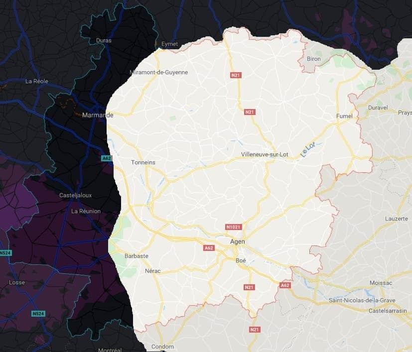 carte lot et garonne frelons jpeg min - Interventions nids de frelons, guêpes en Lot et Garonne