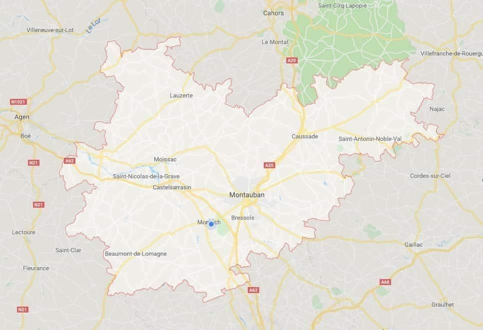 carte tarn et garonne frelons jpeg min - Tarn et Garonne, entreprise nids de guêpes et frelons la plus proche de chez moi